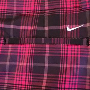 Nike Plaid Dri-Fit Golf Skort